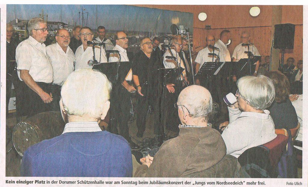 Presse 4 Foto 40 Jahre Shantychor Dorum Sch├╝tzenhalle