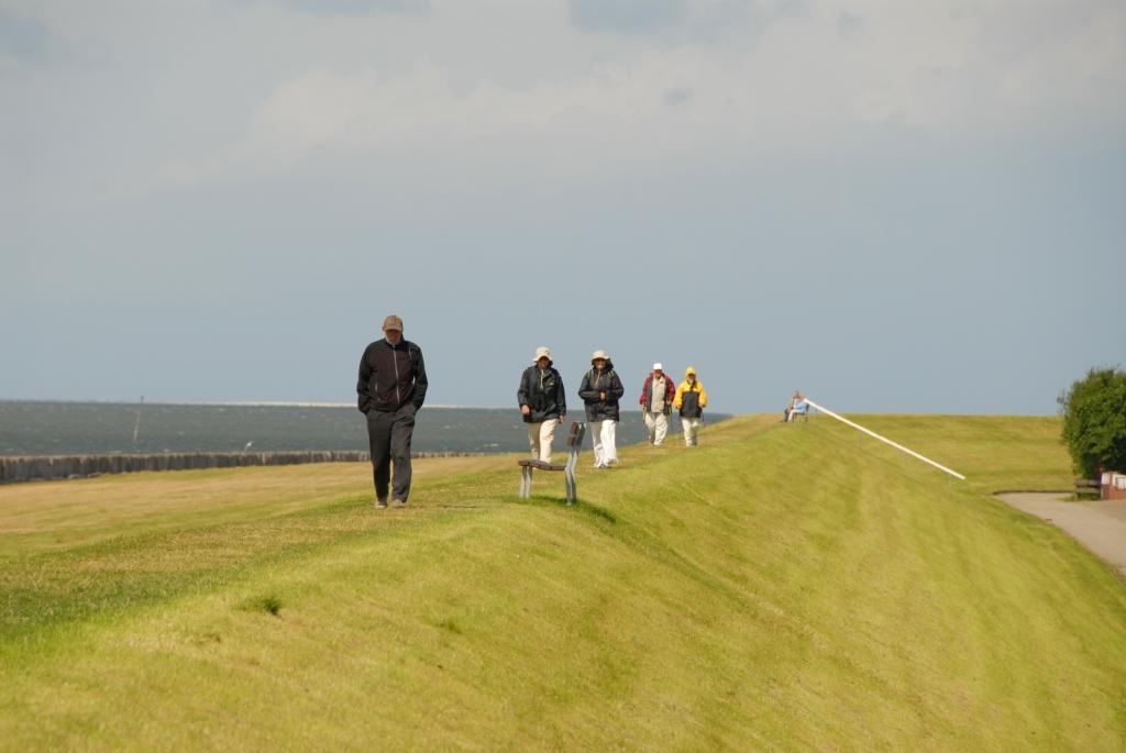 Am Nordseedeich Urlaub machen