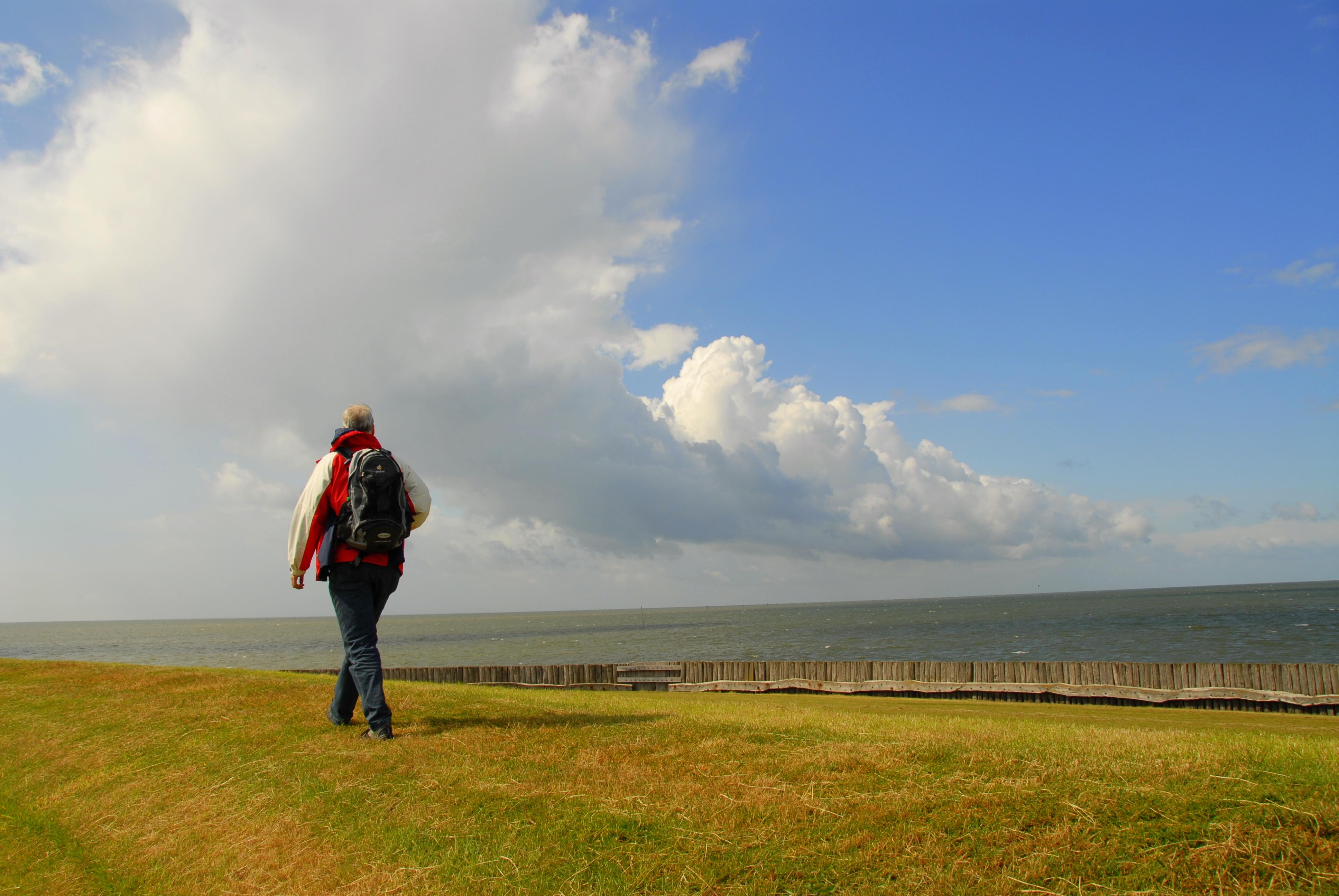 Der Horizont an der Nordsee