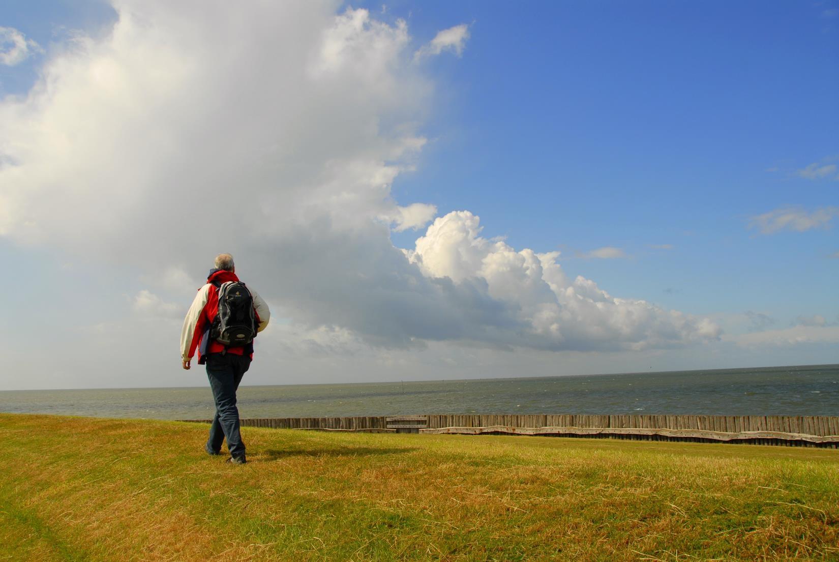 Der Horizont an der Nordsee Foto Stephan Bücker k
